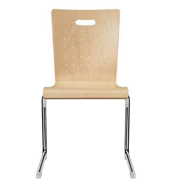 Seminarstühle, Besprechungsstühle, C-Formgestell verschiedene Holzsitzschalen
