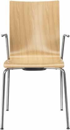 Seminarstuehle Besprechungsstuehle drei Gestelle Holzsitzschale Edelfurnier