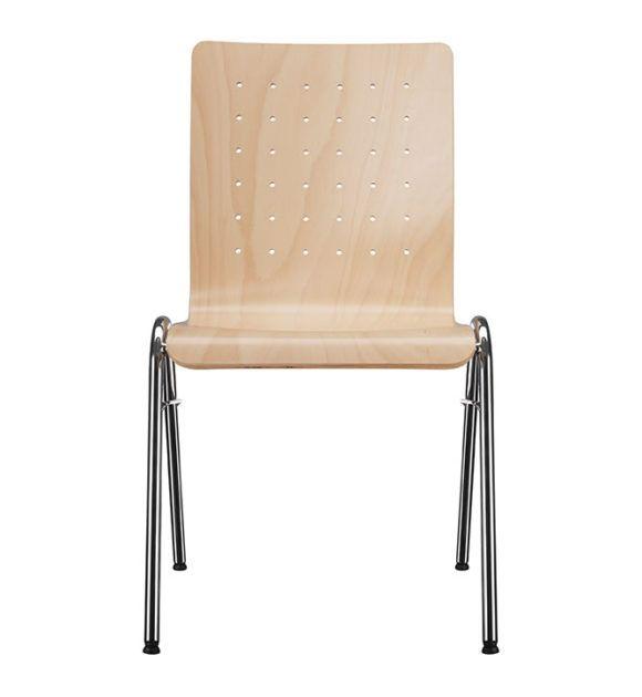 Seminarstuehle Besprechungsstuehle Vierbein Holzsitzschale Parabelgestell 1