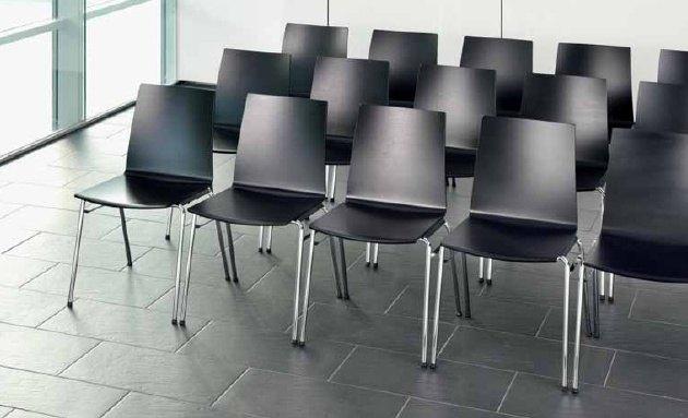 Besprechungsstuhl Reihenverbinder Kommunikationsraeume Mehrzweckstuhl