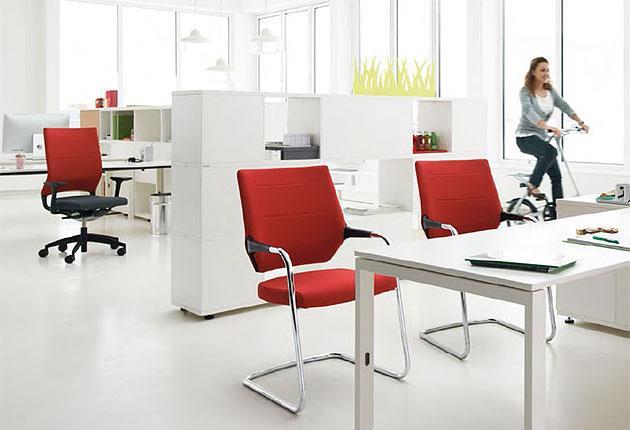 Besprechungsstühle quarterback rot repraesentative und komfortable Stühle