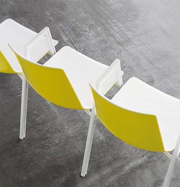 Mehrzweckstuhl nooi Gestellverkettung robust Besprechungsbereiche und Pausenbereiche