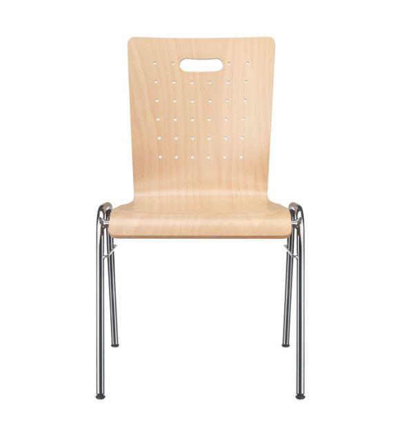 Seminarstühle, Besprechungsstühle, Trapezgestell, Holzschale mit Griffloch