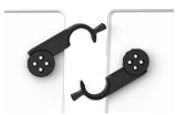 T221, T224 Klapptisch mit patentierter Einhandmechanik innovativ Tischverbinder