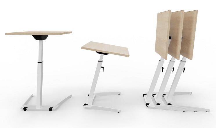 Seminartisch opd, rollbar, höhenverstellbar, klappbar und staffelbar