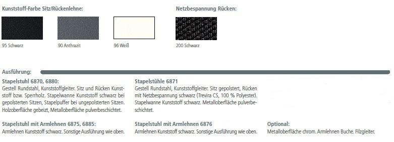 outline Seminarstühle, Farben Kunststoff und Netz