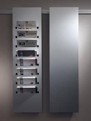 Prospekthalter für moduline Wandschiene