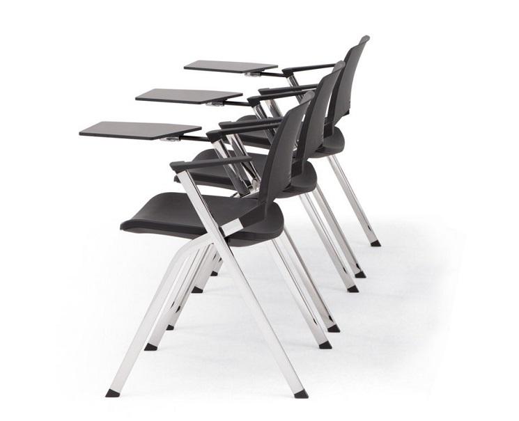 Seminarstuhl Opla mit Schreibtablar in 3-facher Ausführung