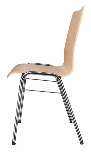 Seminarstühle, Besprechungsstühle mit Holzsitzschale