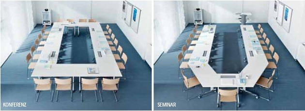 Seminartische n-table Stellbarkeit Konferenz Seminar