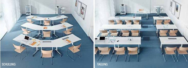 Seminartische n-table Stellbarkeit Schulung Tagung