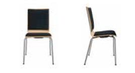 Seminarstuehle Besprechungsstuehle drei Gestelle acht Formen der Holzsitzschale gepolstert