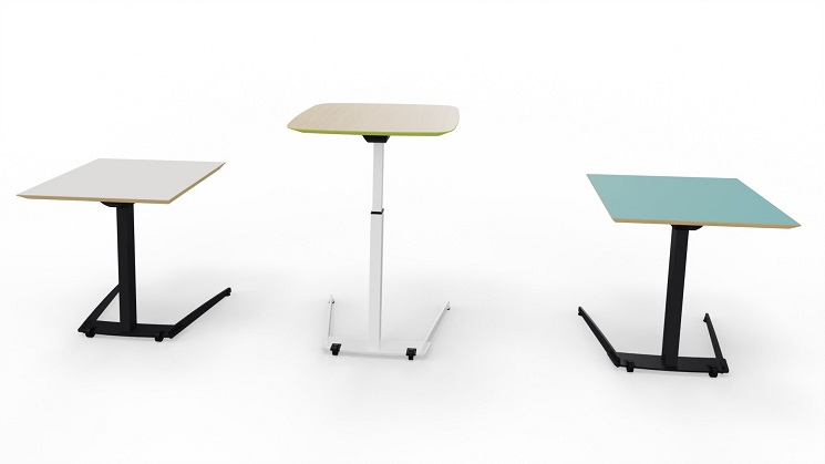 Tischplatten opd in Linoleum, Furnier oder HPL mit abgeschrägter Tischkante