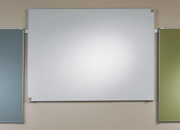 Projektionswand moduline auf Wandschiene