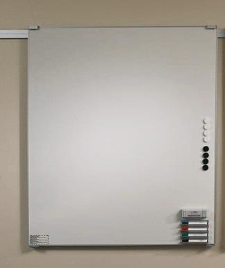 moduline Wandtafeln auf Wandschiene aus Aluminium, geraeuschlos, Zubehör
