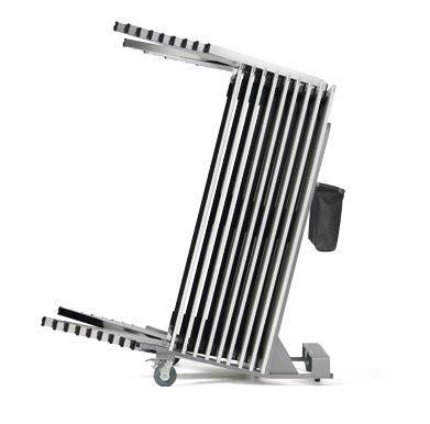Stapeltisch yuno Stapelwagen dichte platzsparende Stapelung