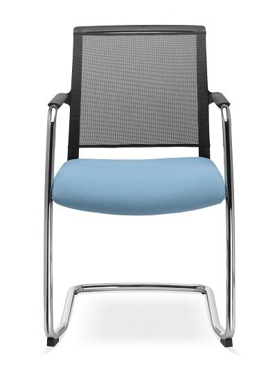 Besprechungsstühle Look Freischwinger mit Netzruecken und dem perfektem Sitzkomfort 1
