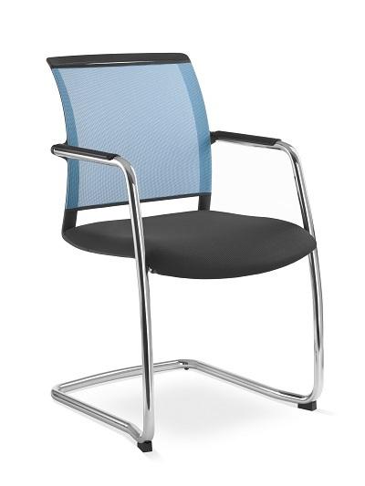 Besprechungsstuhl Look Netzmembran Farbe blau