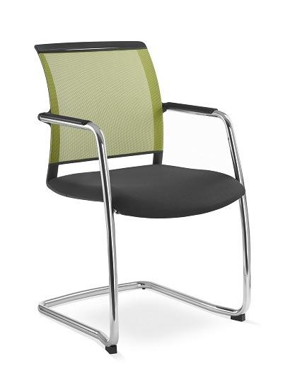 Besprechungsstuhl Look Netzmembran Farbe gruen