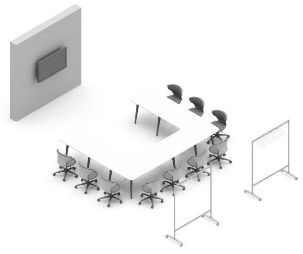 Einrichtung für Schulung und Präsentation