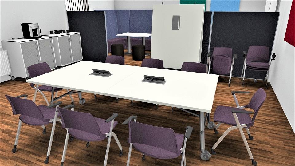 Kreativraum, viele Nutzungsvarianten, Workshopraum, Projektraum oder Multiraum