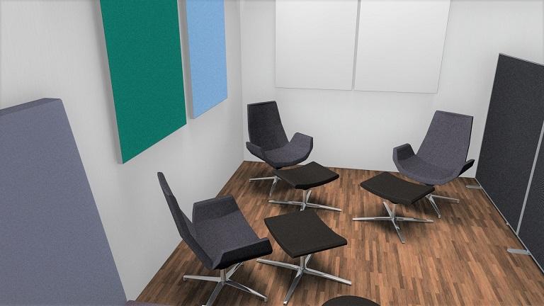 Lounge, relaxen im Kreativraum