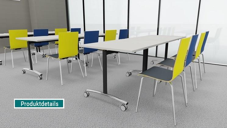 Seminarstühle mit Holzschale zweifarbig