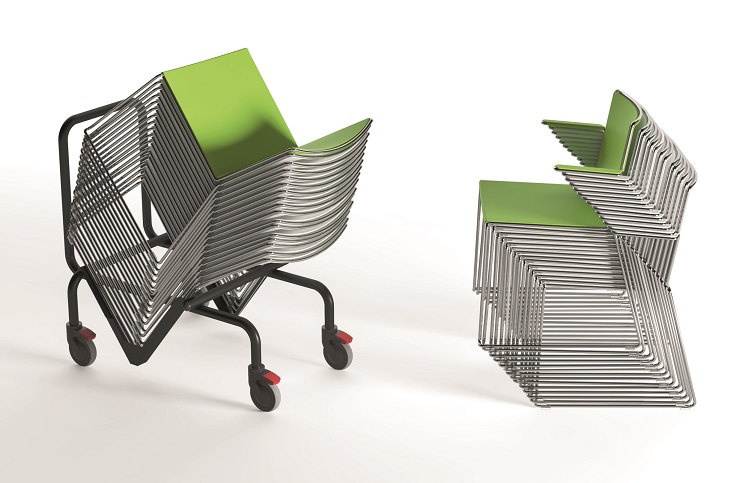 Seminarstühle Multi Kufengestell, stapelbar bis zu 20 Stück pro Stape