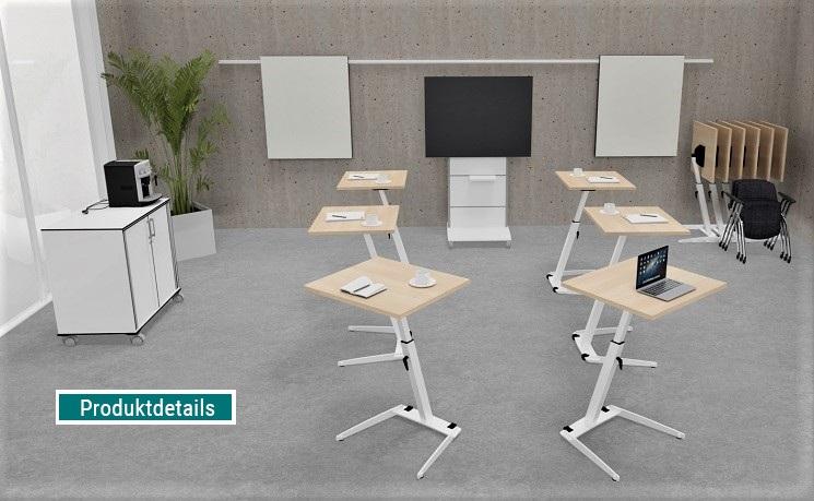 Seminartische opd, steh-sitz, staffelbar und klappbar